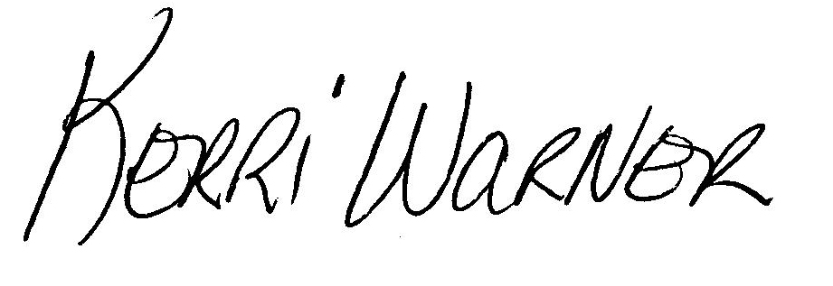 Kerri Warner's Signature