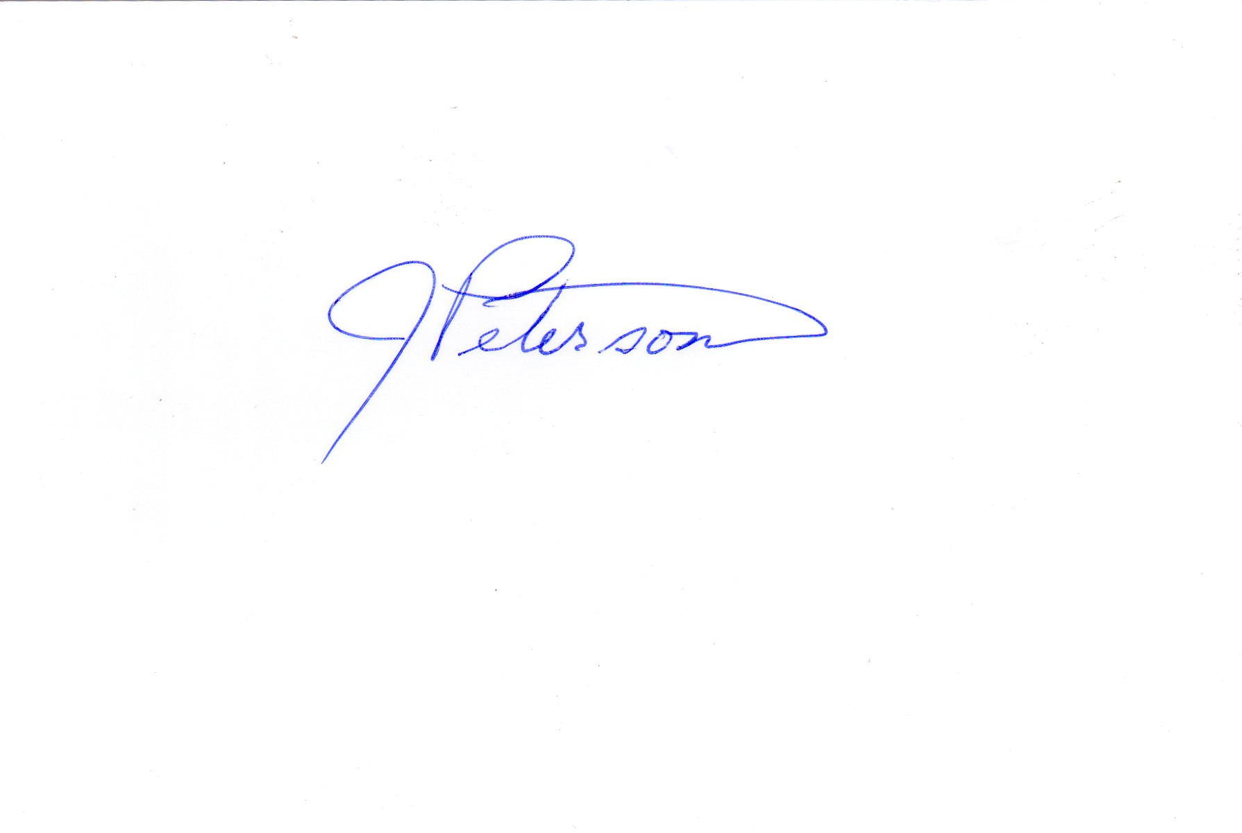 Jean Peterson's Signature
