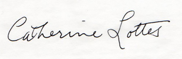 Catherine Lottes's Signature