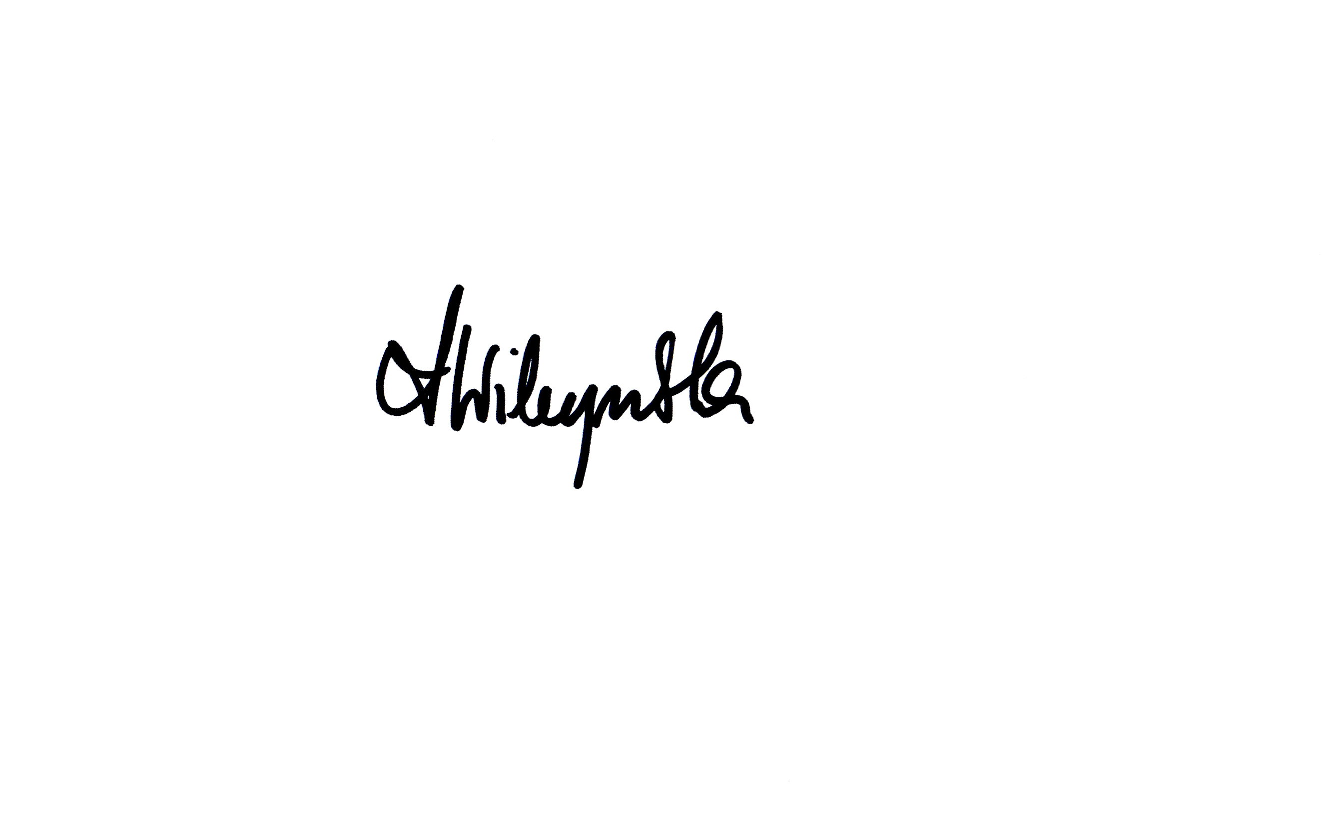 ANNA WILCZYNSKA's Signature