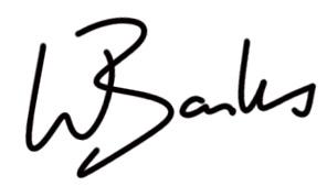 Wayne Banks's Signature
