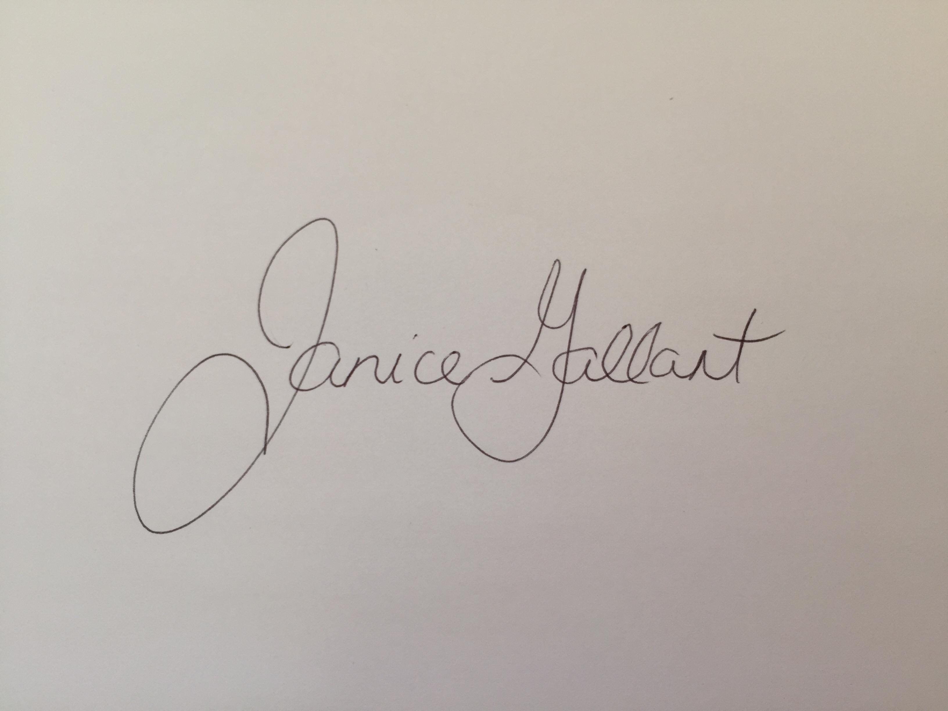 Janice Gallant's Signature