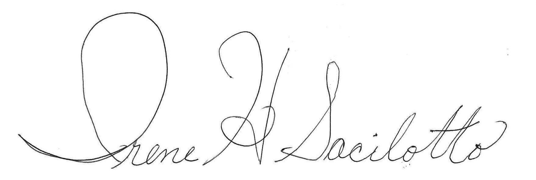 Irene Sacilotto's Signature