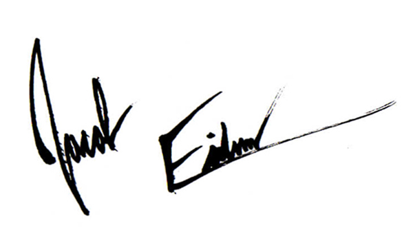 Jacob Eidem's Signature