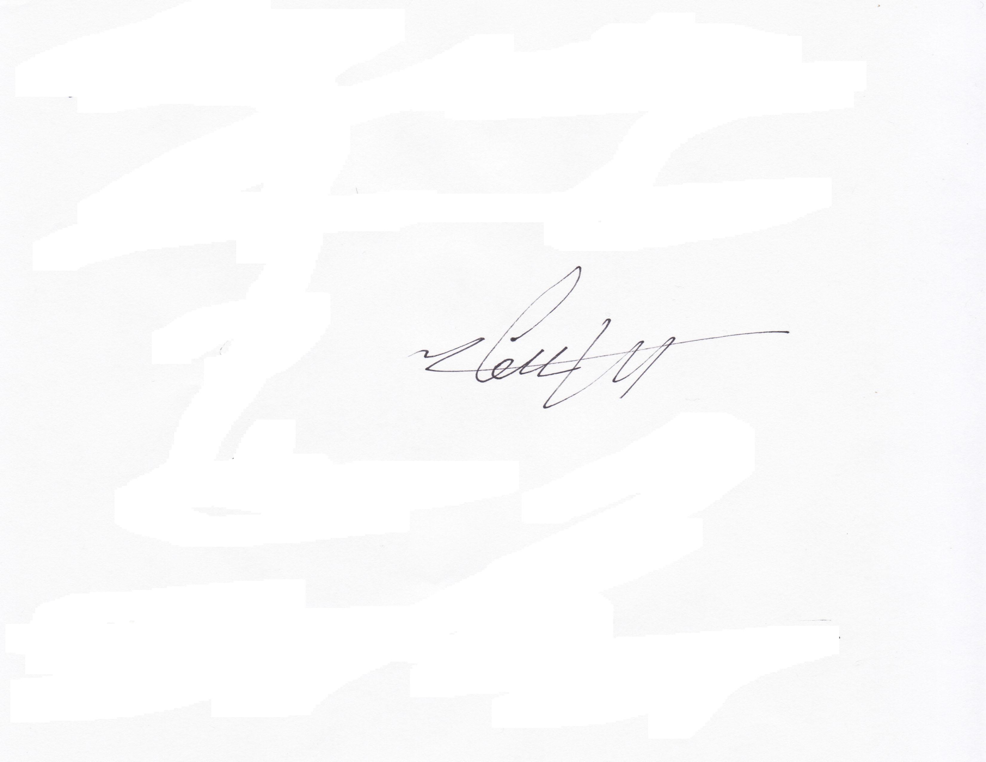Ming Wong's Signature