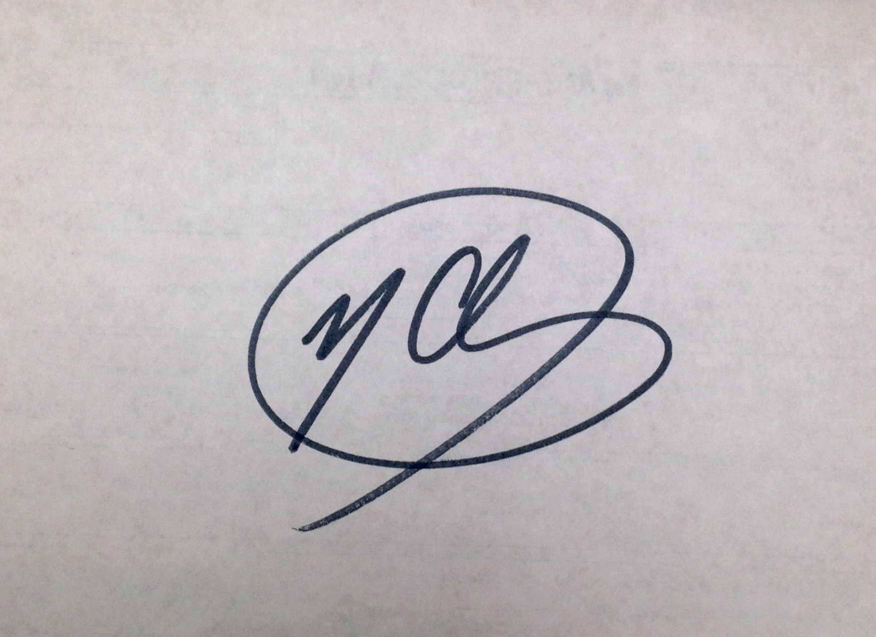 Michael Chewning's Signature