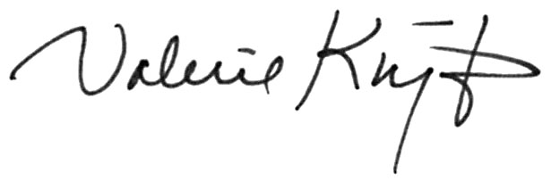 Valerie KNIGHT's Signature