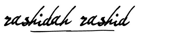 Rashidah Rashid's Signature