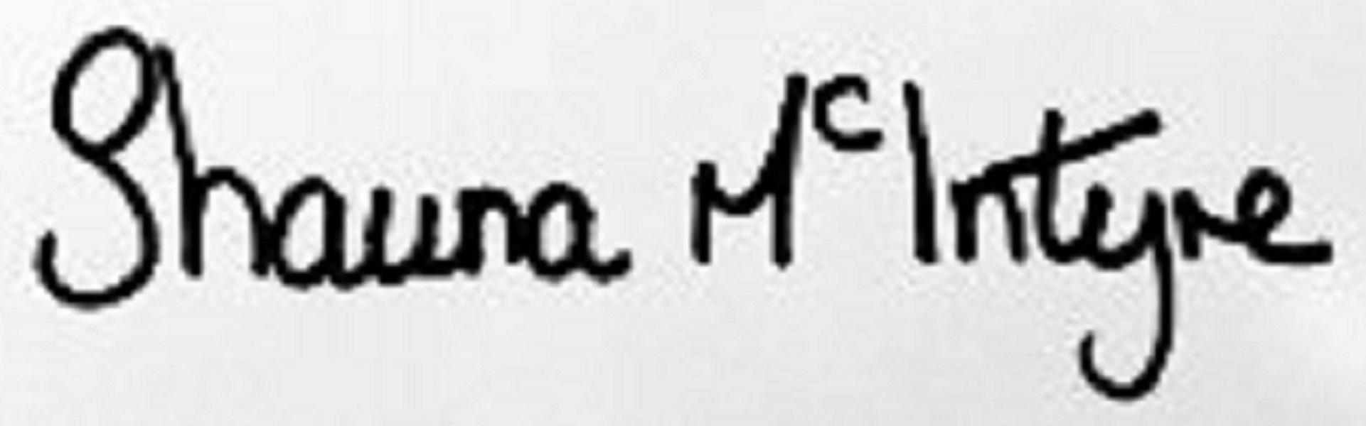 Shauna McIntyre's Signature