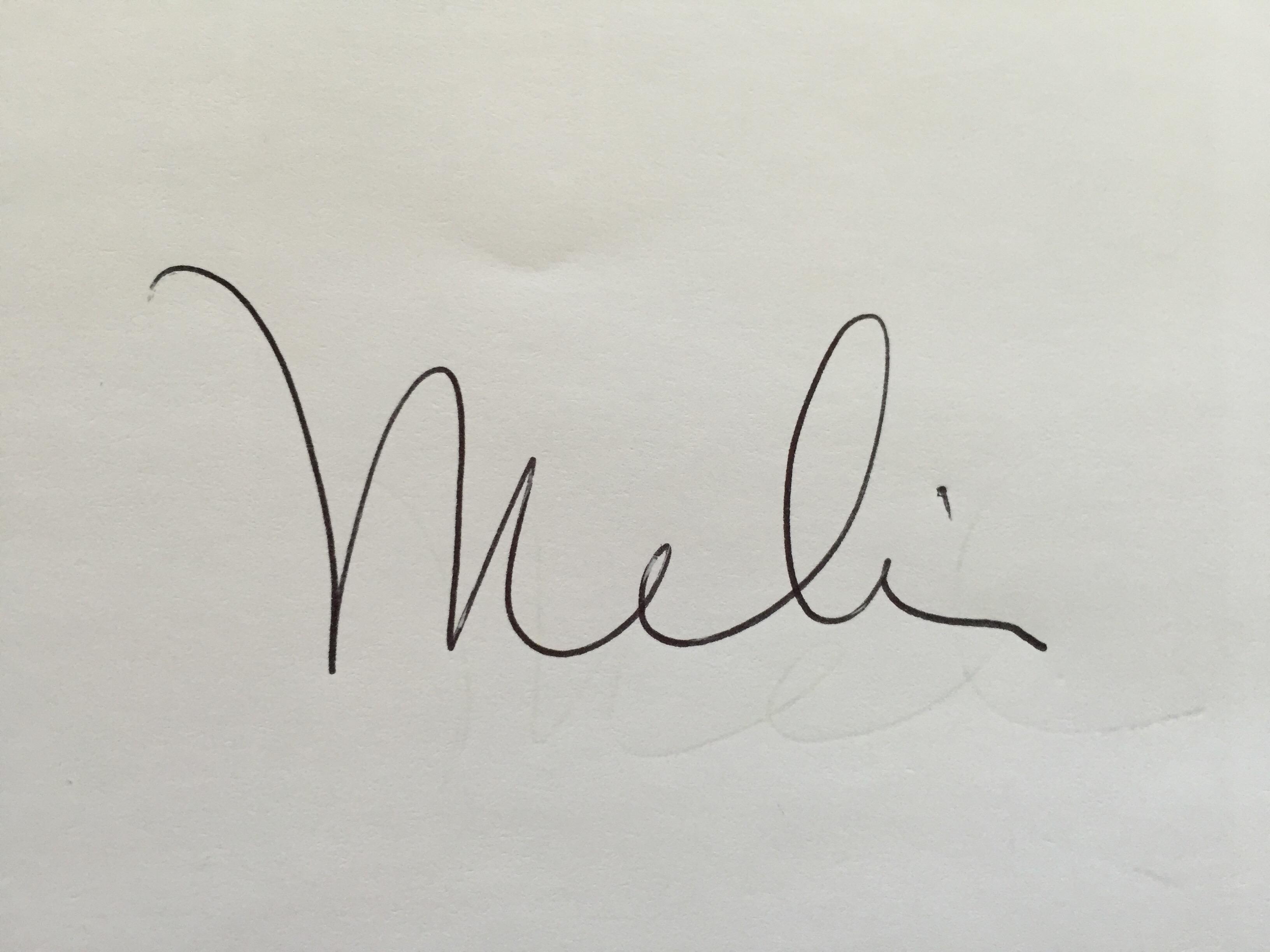 Melissa Hornung's Signature