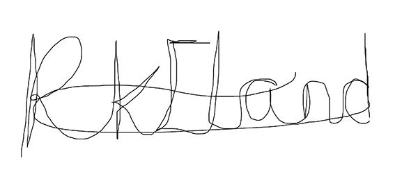 Rebecca Eland's Signature