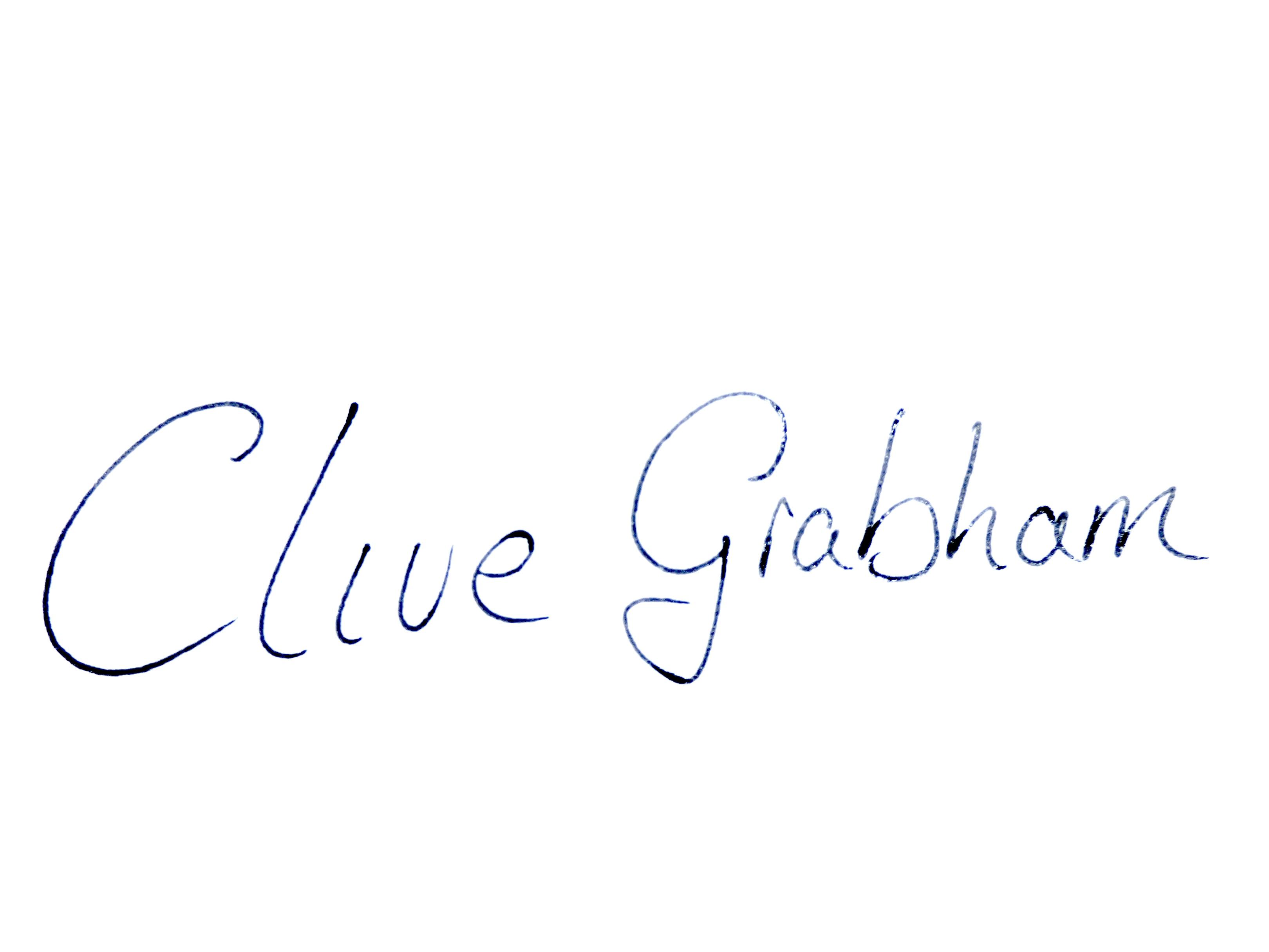 clive grabham's Signature