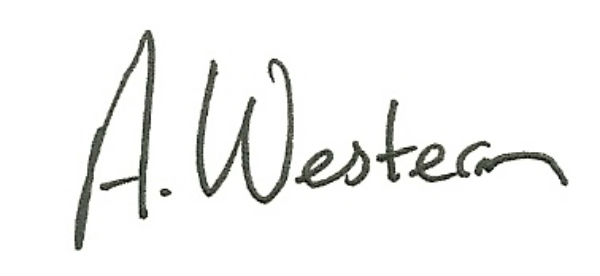 andrew western's Signature