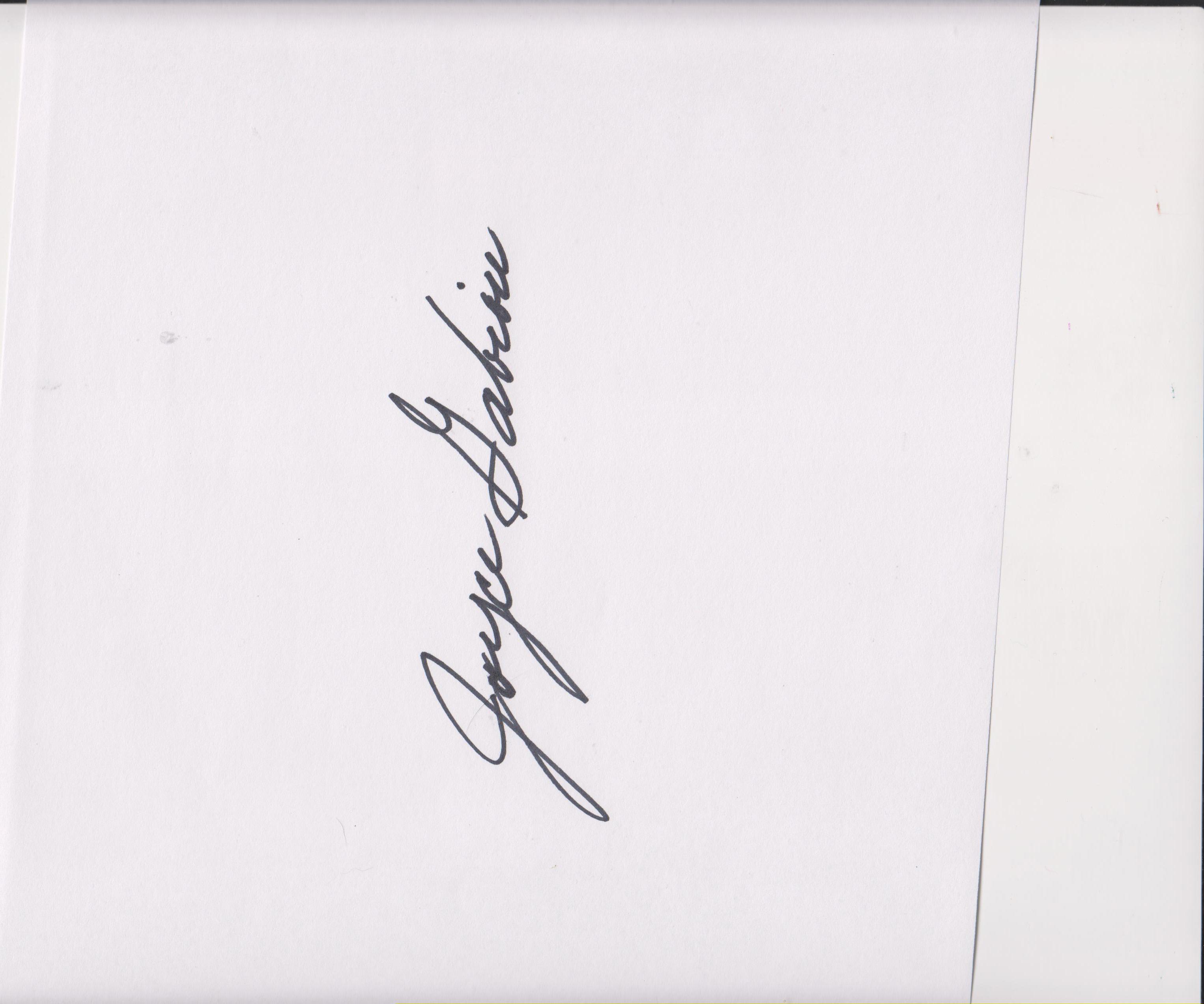 Joyce Gabiou's Signature