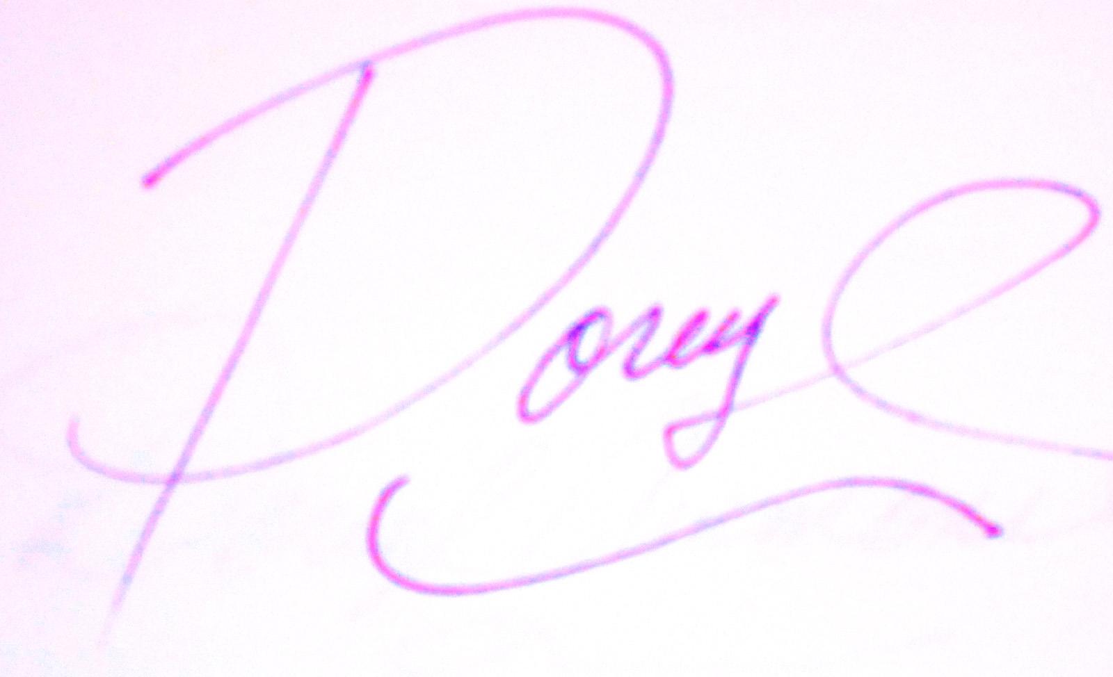 Doreyl Ammons Cain's Signature