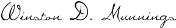 Winston D. Munnings's Signature