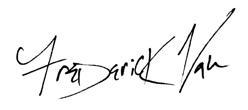 Frederick Van Johnson's Signature