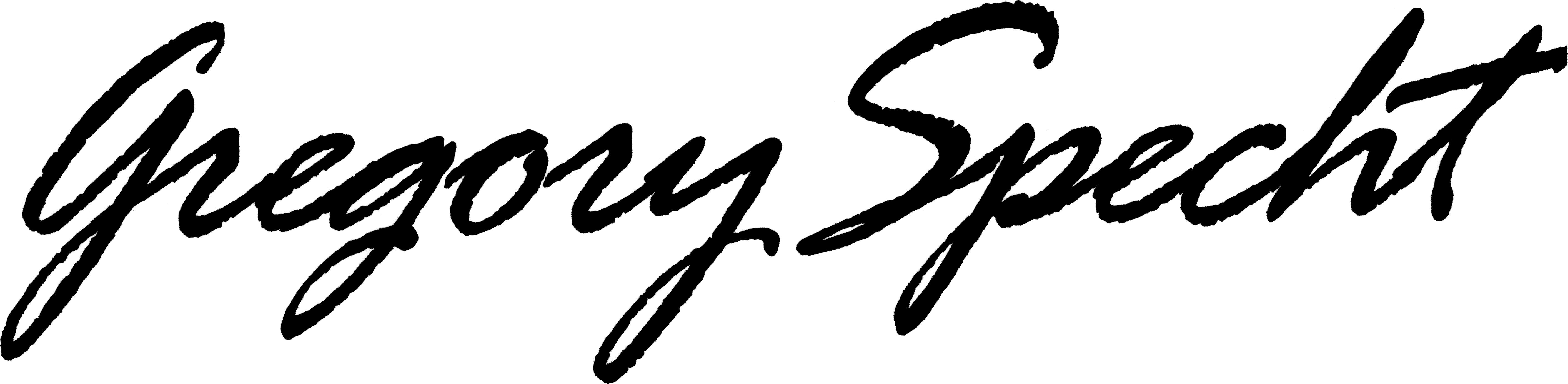 Gregory Specht's Signature