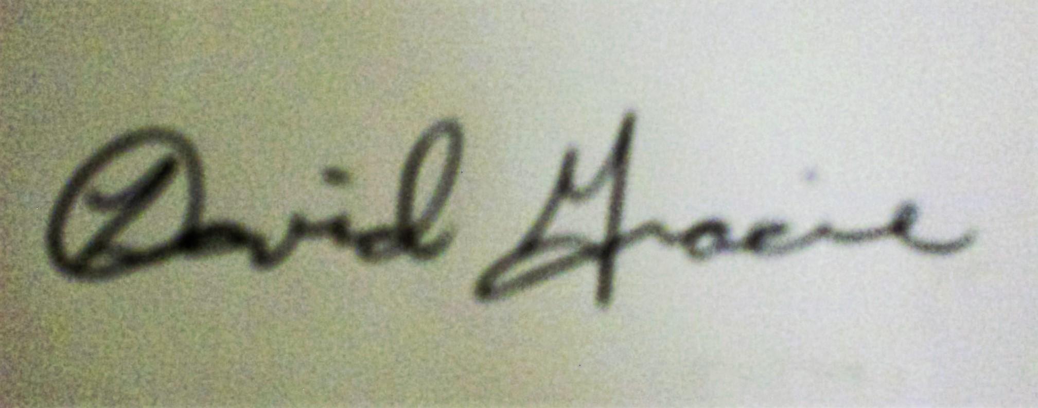 David Gracie's Signature