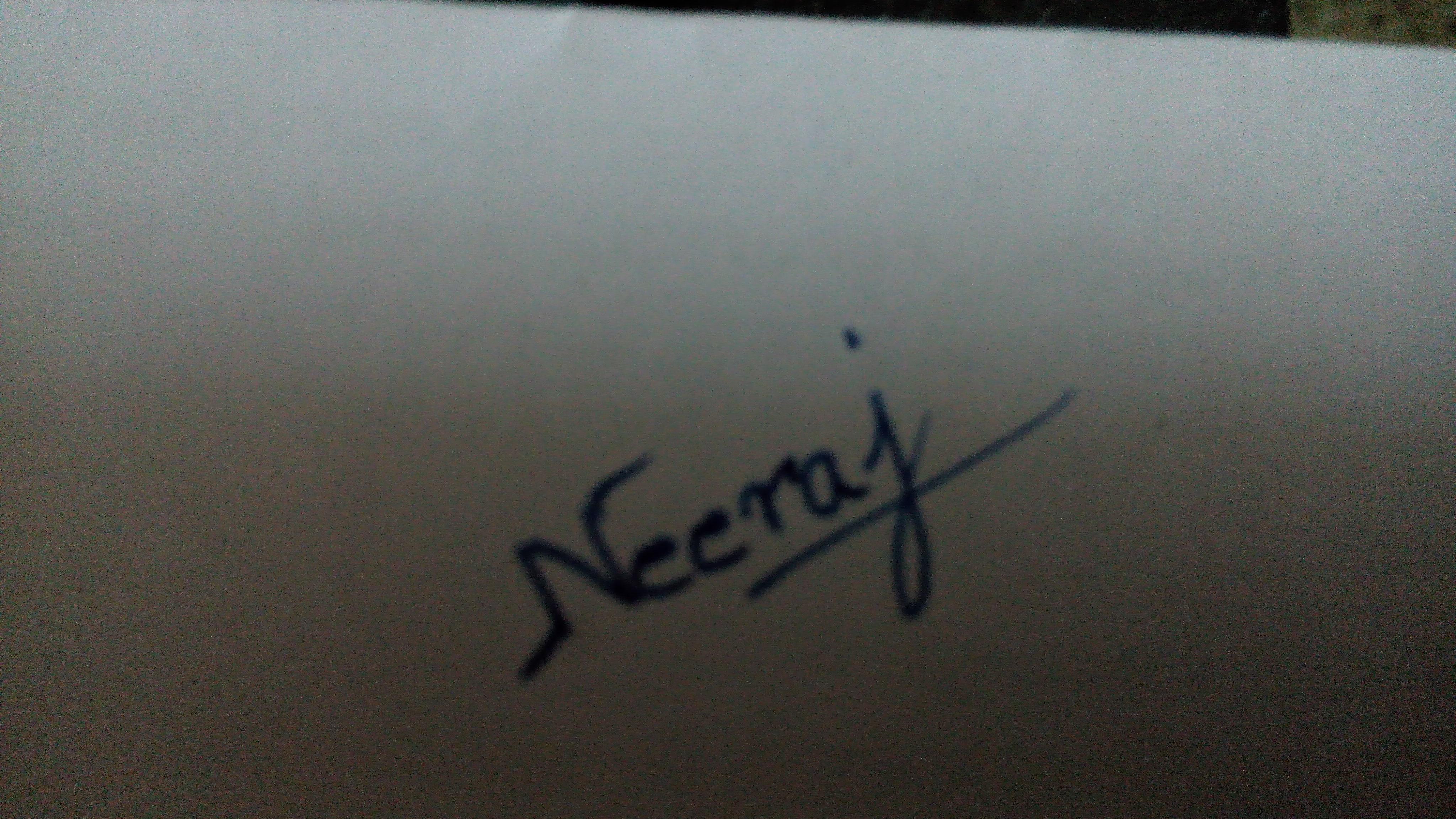 Neeraj Parswal's Signature