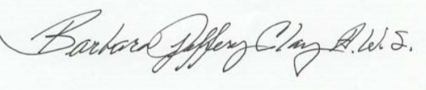 Barbara Jeffery A.W.S.'s Signature