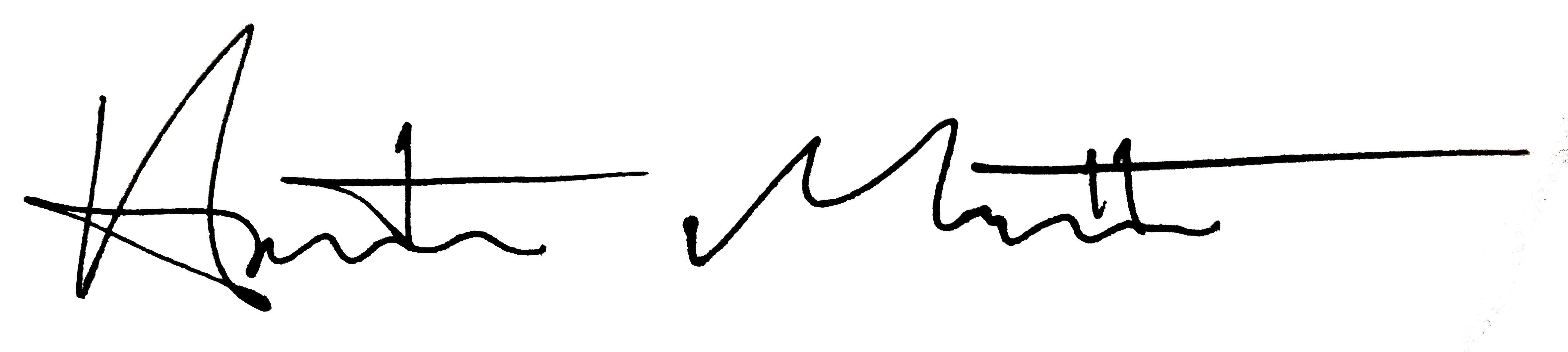 Austin Matthew's Signature