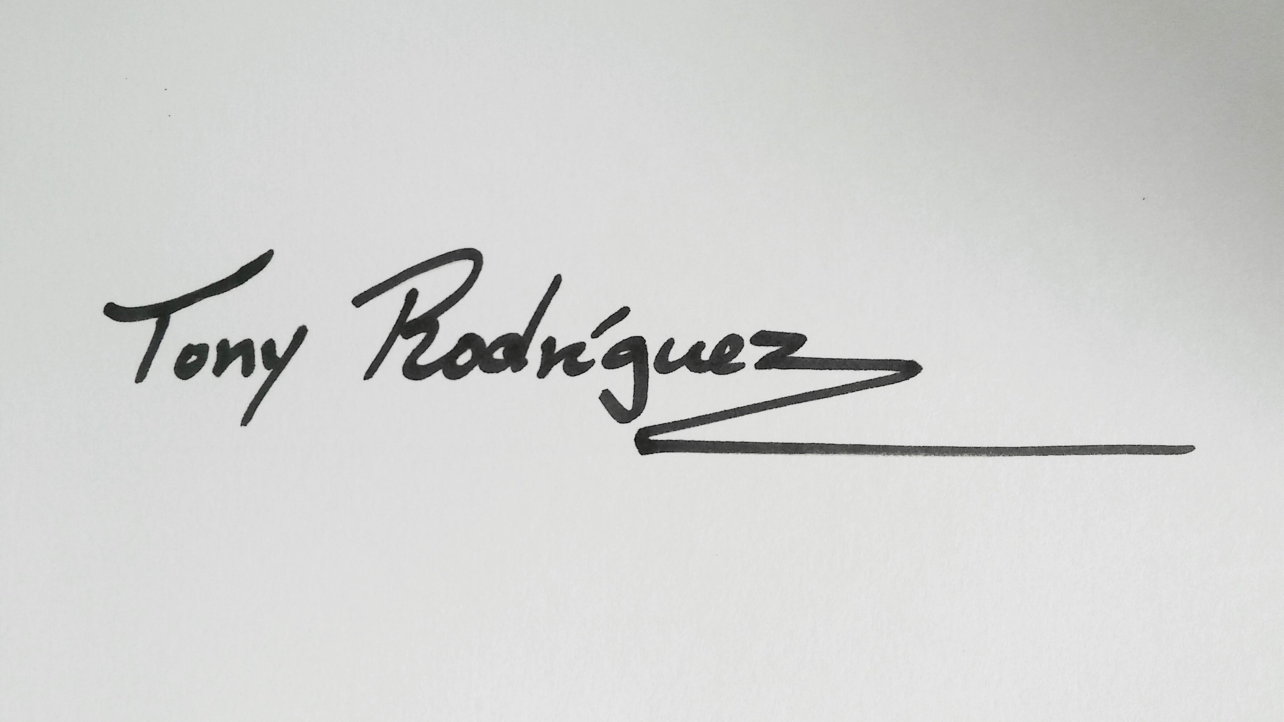 Tony Rodriguez's Signature