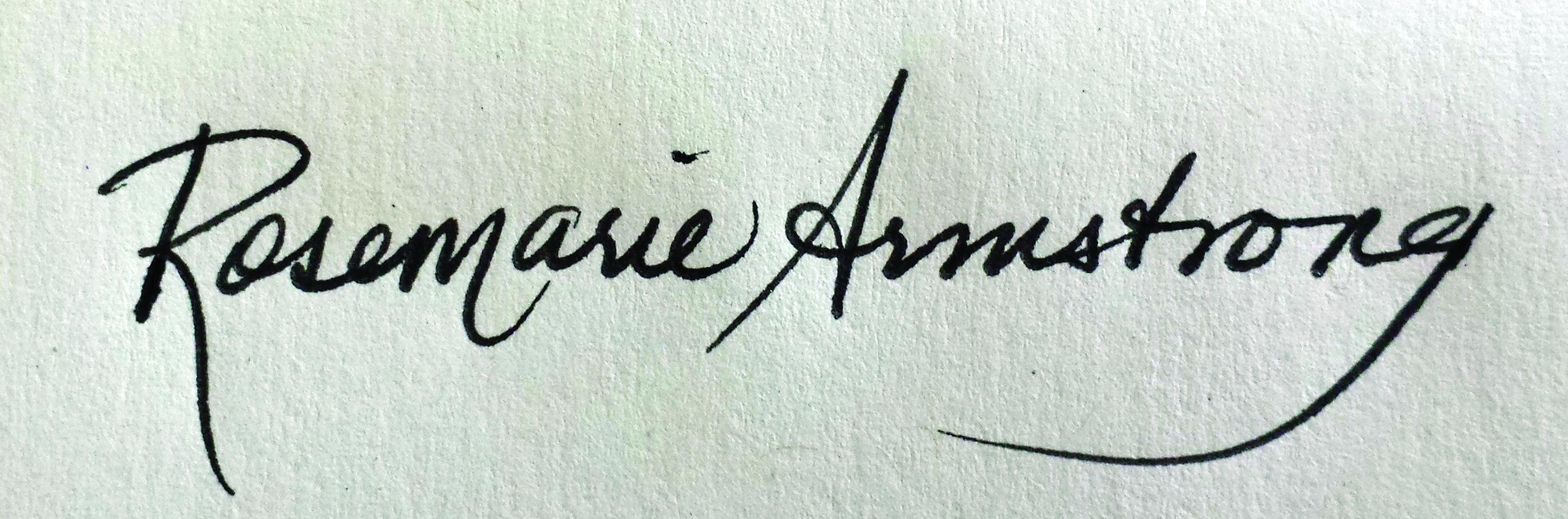 Rosemarie Armstrong's Signature