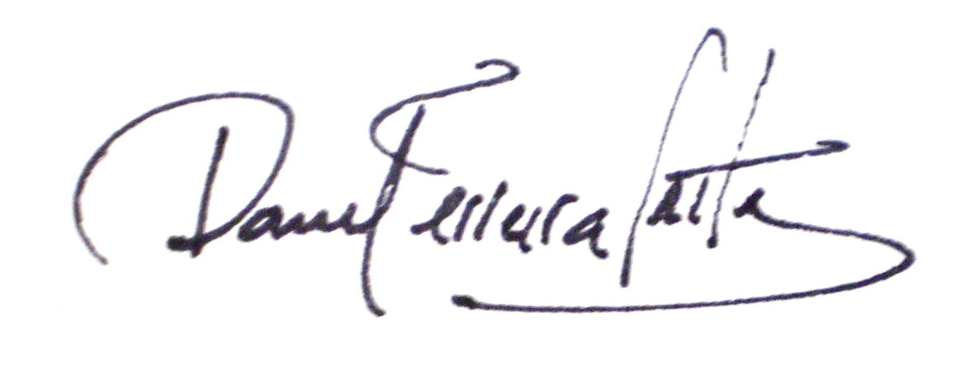 Daniel ferreira leites's Signature
