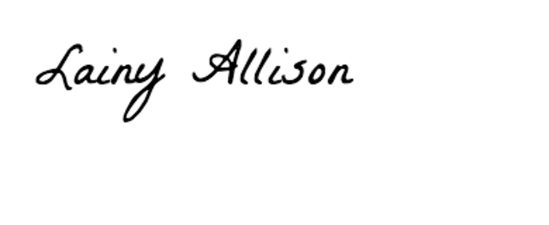 Lainy Allison's Signature
