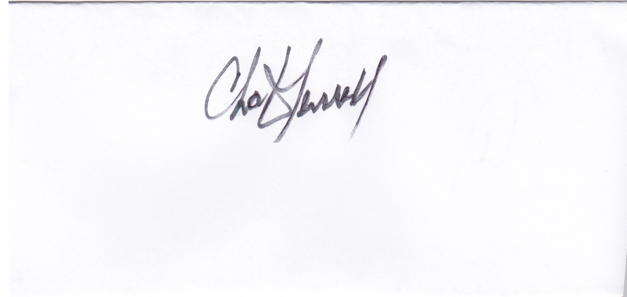 Chuck Terrell's Signature
