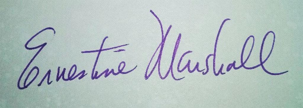 Ernestine Marshall's Signature