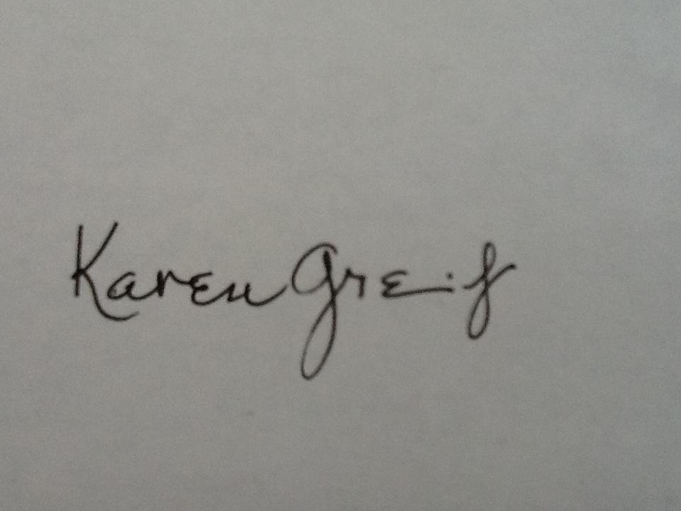 Karen Greif's Signature