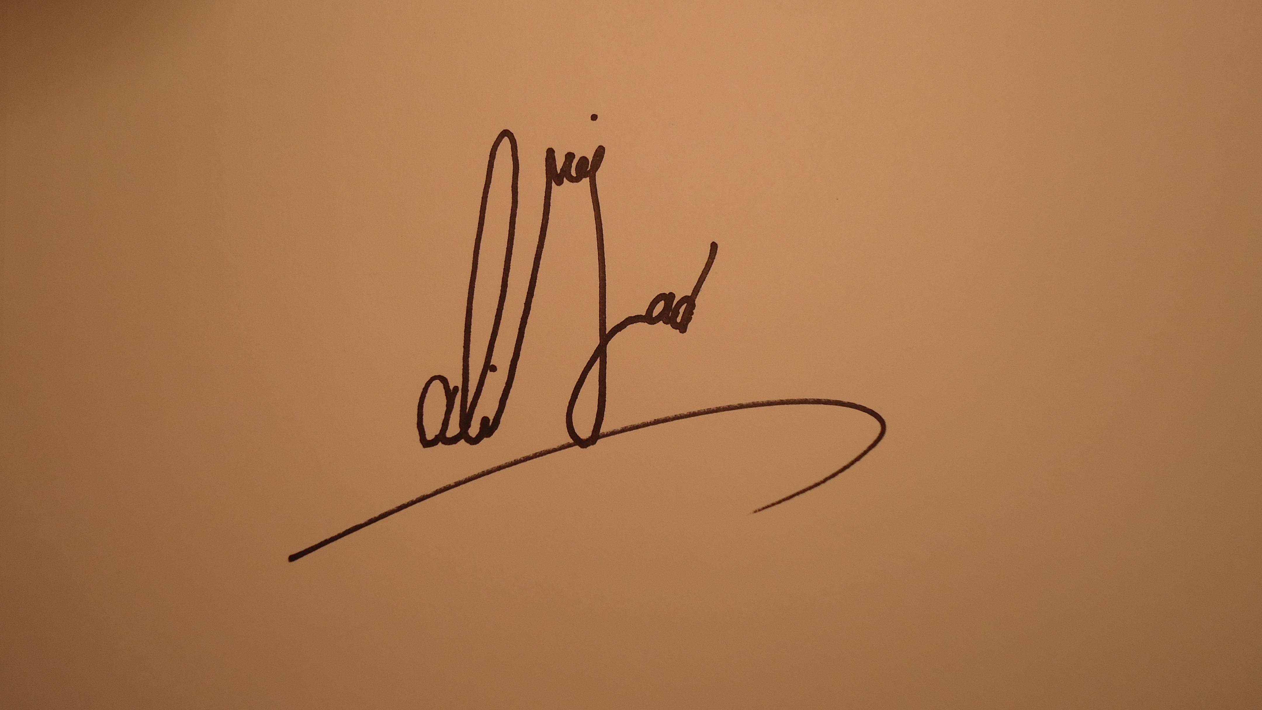 mohammad R Alinejad's Signature