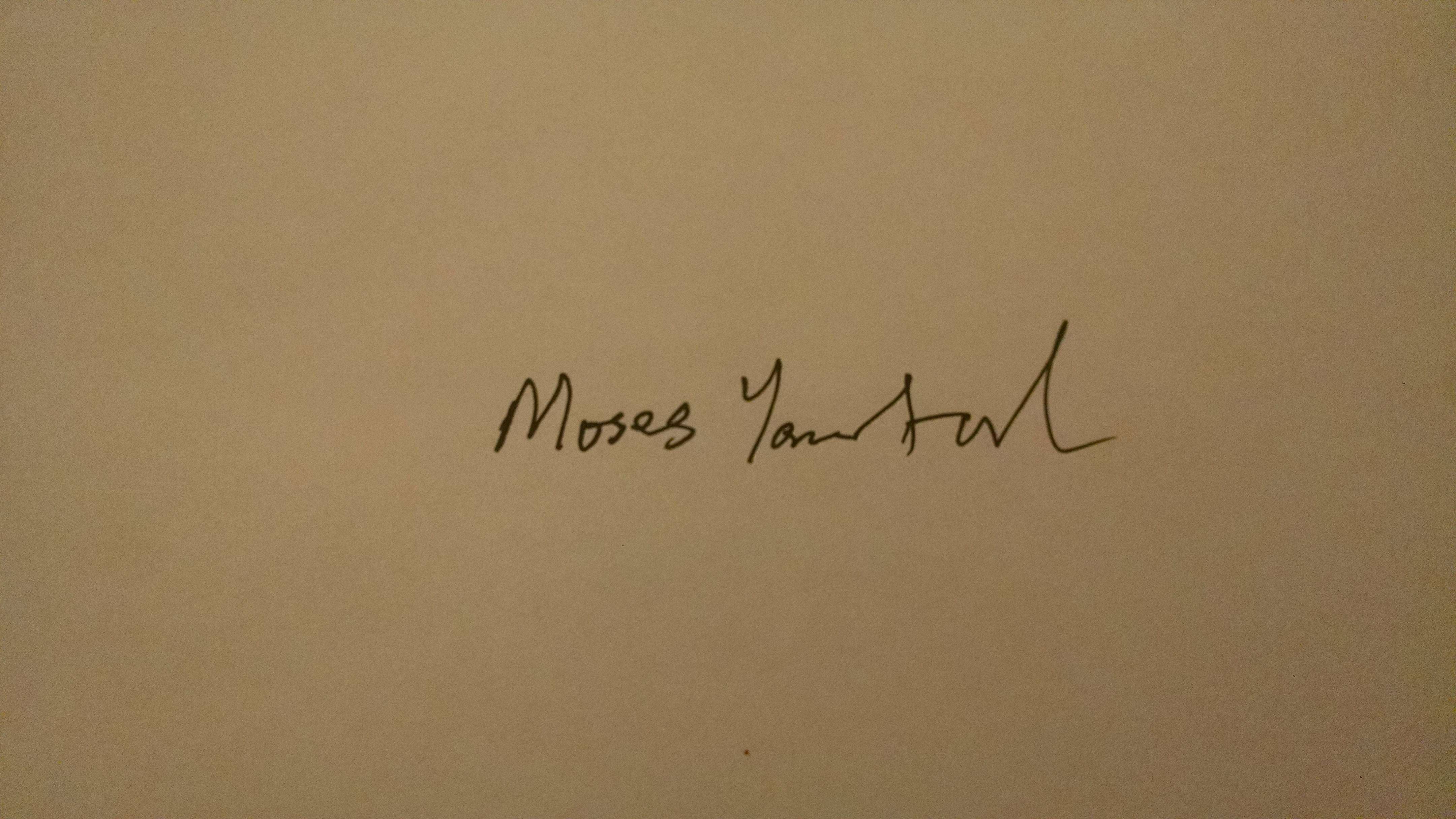 Moses Yamtal's Signature
