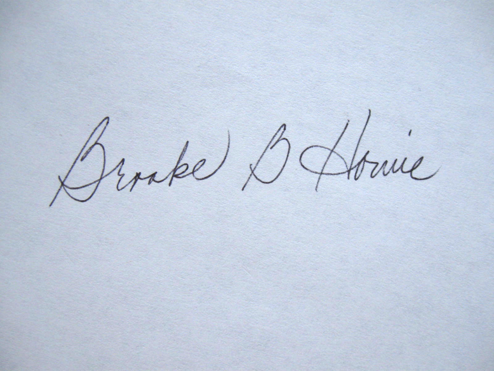 Brooke Howie's Signature