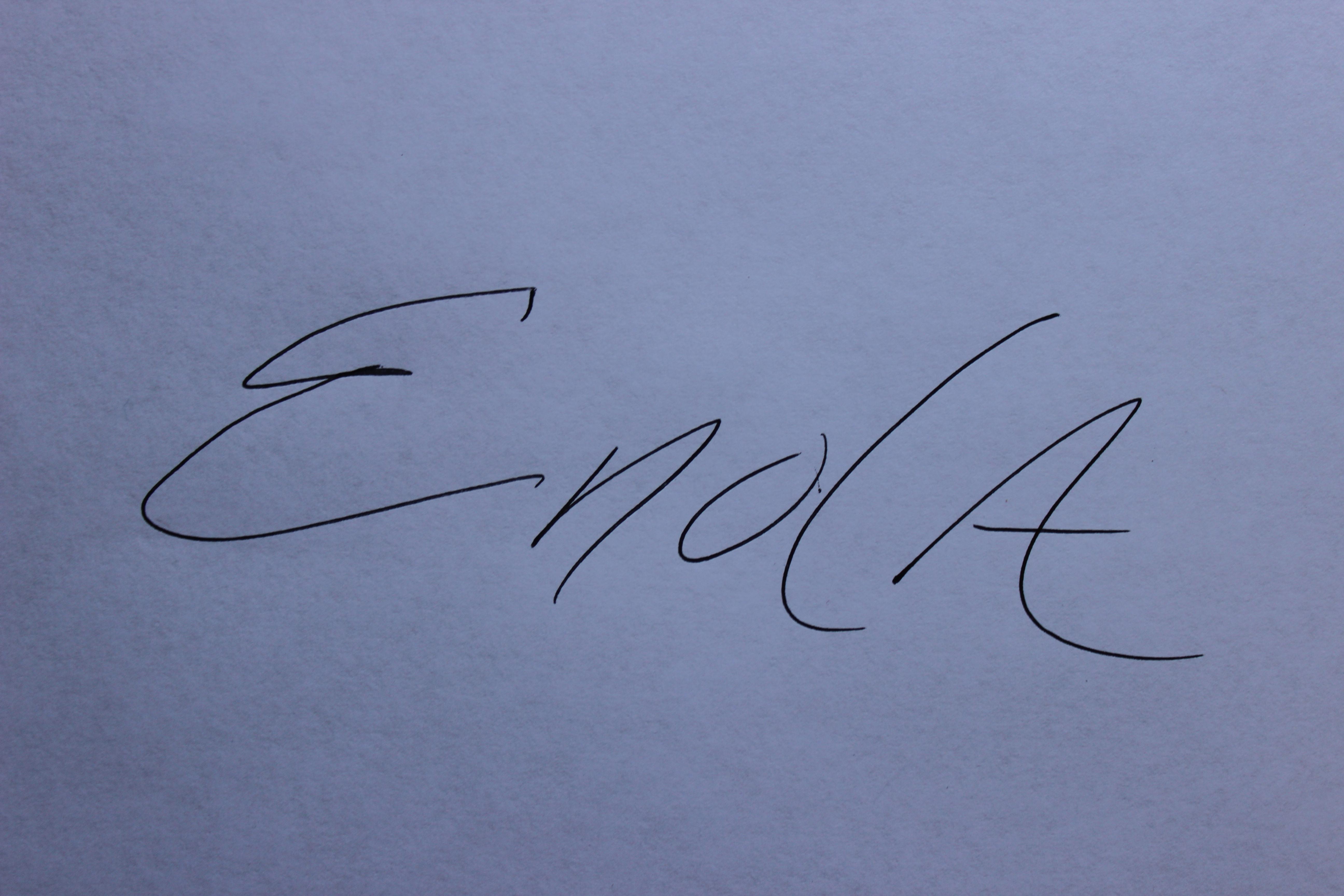 Enola McClincey's Signature