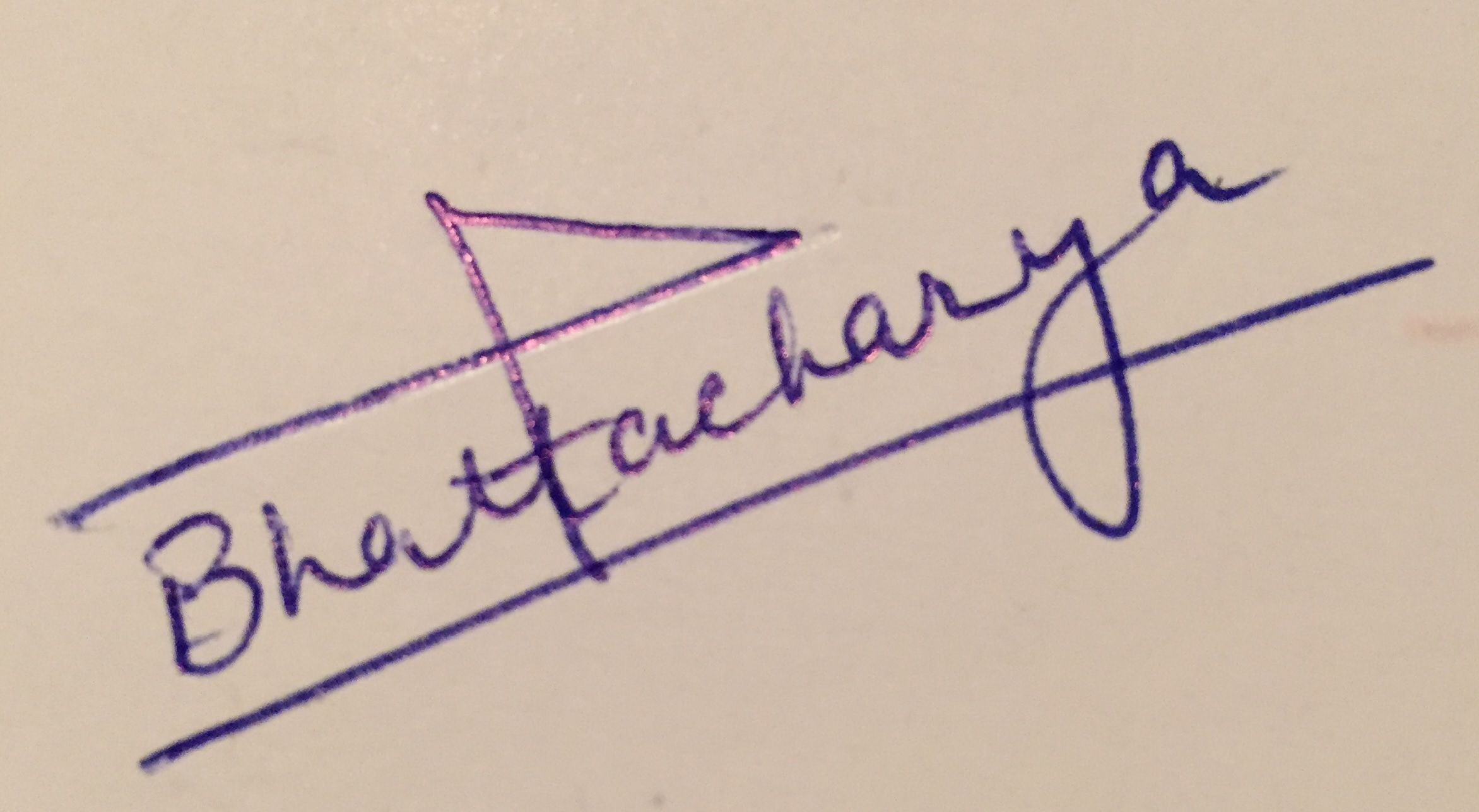 Shampa Bhattacharya's Signature