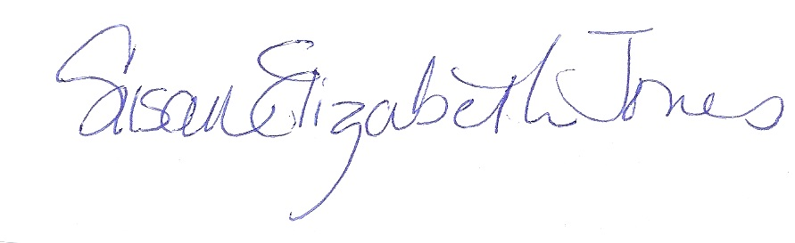 susan Elizabeth jones's Signature
