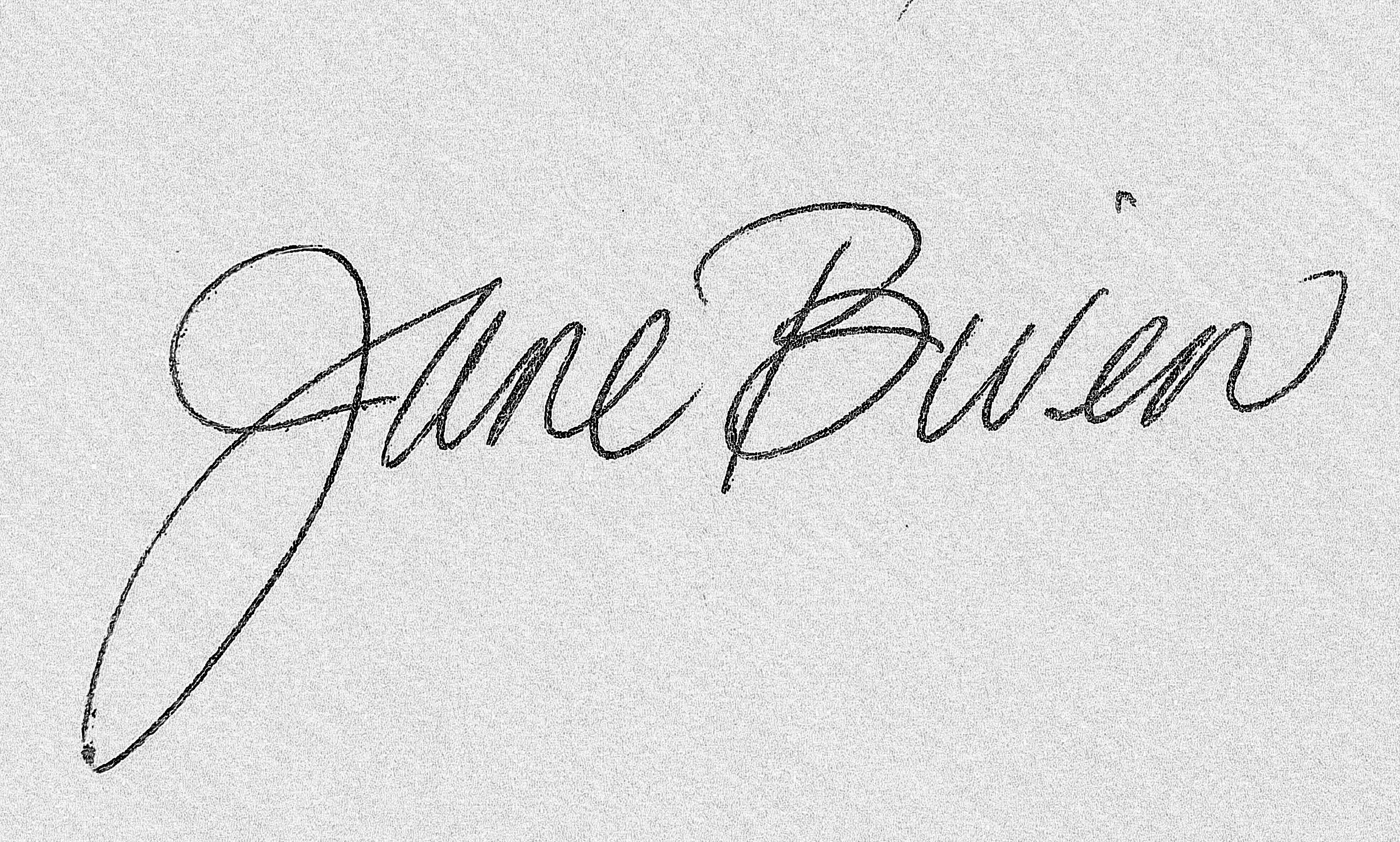 Jane Biven's Signature