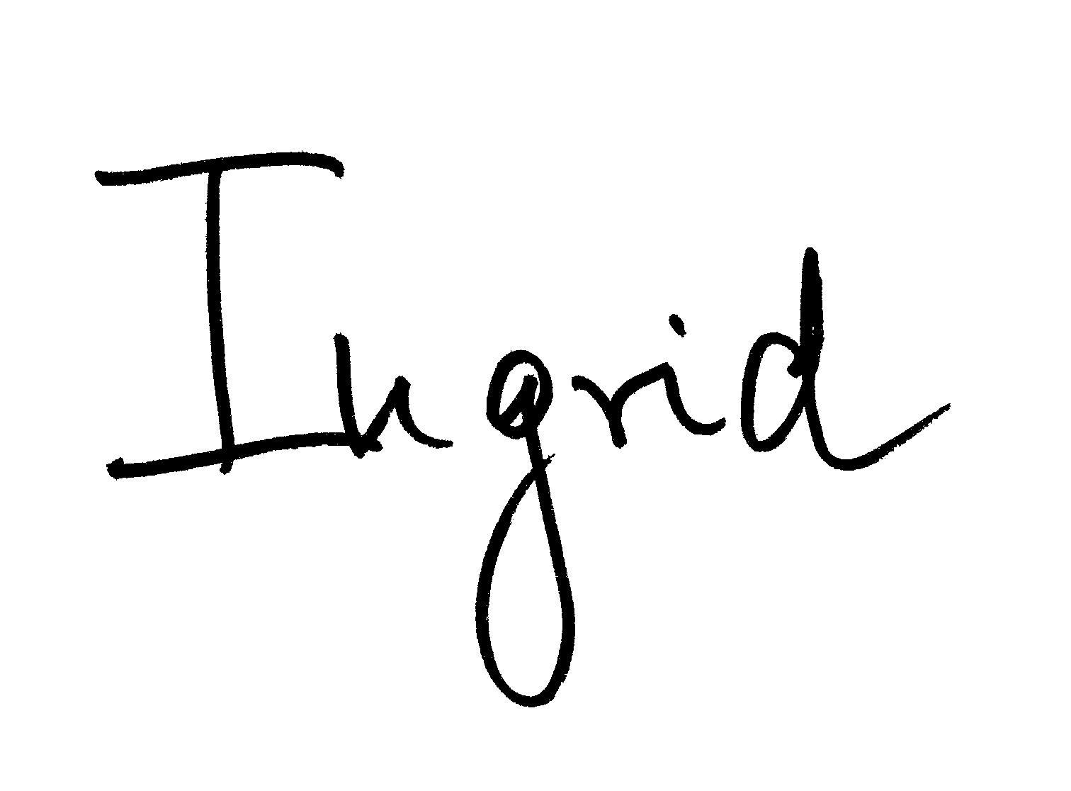 Ingrid McCarthy's Signature