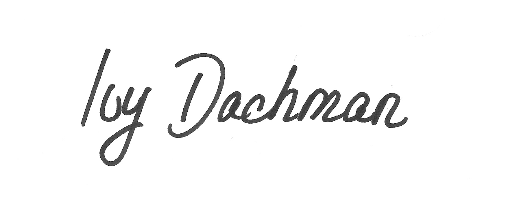 Ivy Dachman's Signature