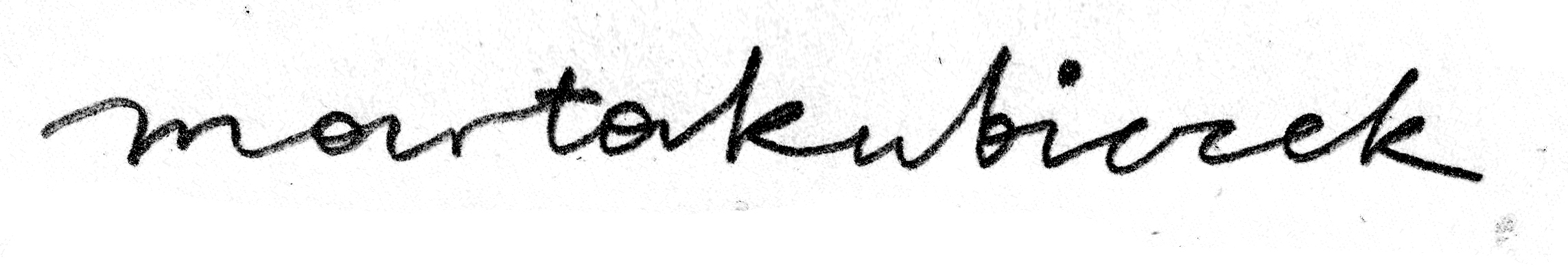 Marta Kubiczek's Signature