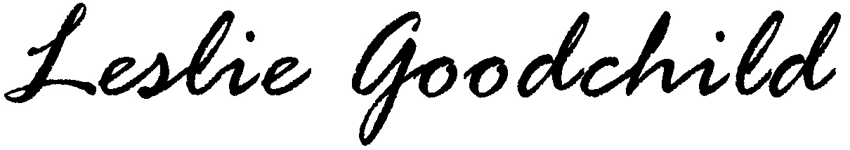 Leslie Goodchild's Signature