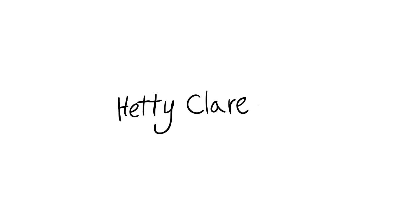 hetty clare's Signature