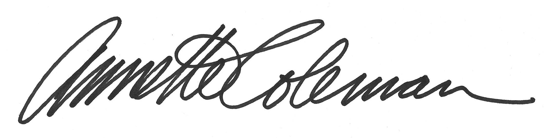 Annette Coleman's Signature