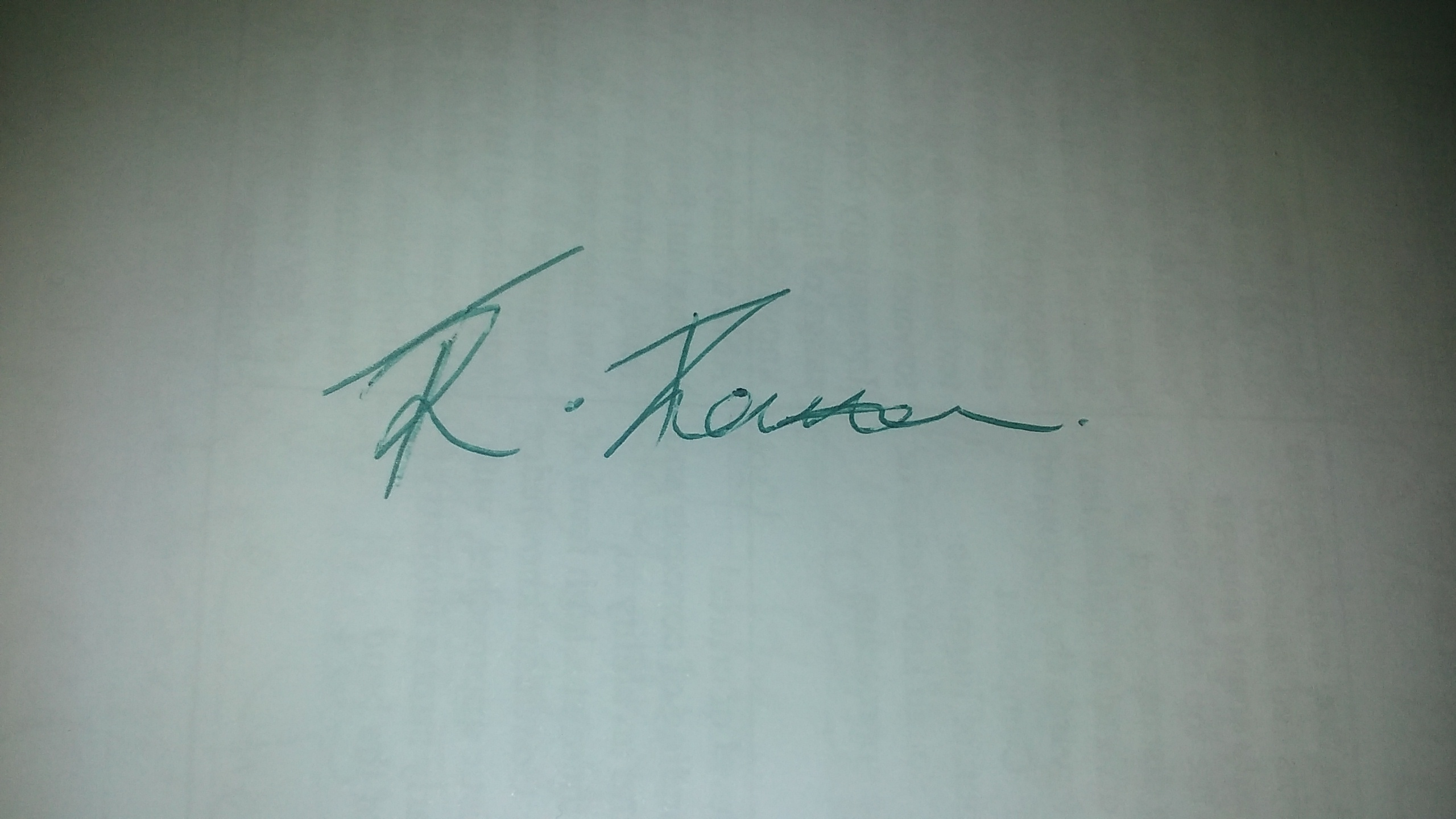 Raquel Thompson's Signature