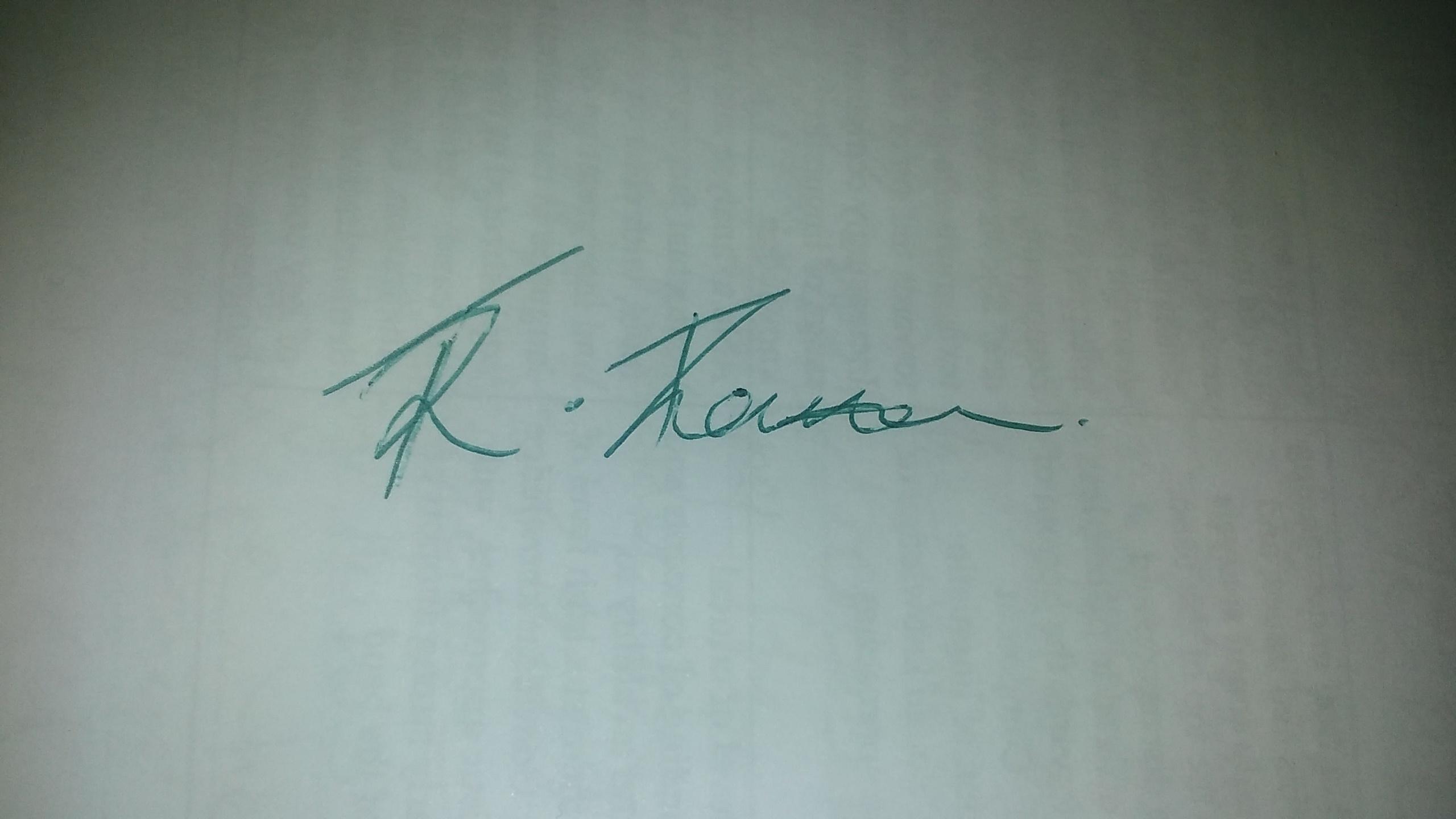 Raquel Thompson's Signature