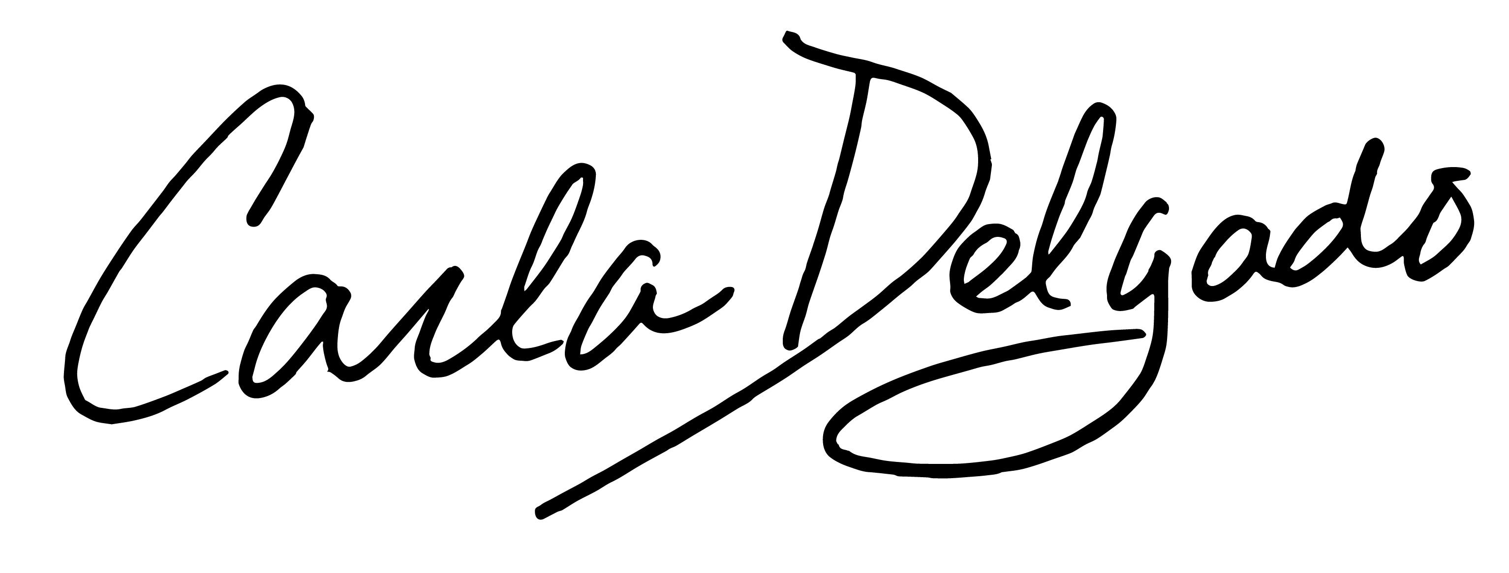 Carla Delgado's Signature