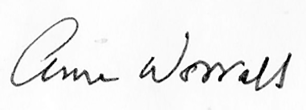 Anne Worrall's Signature